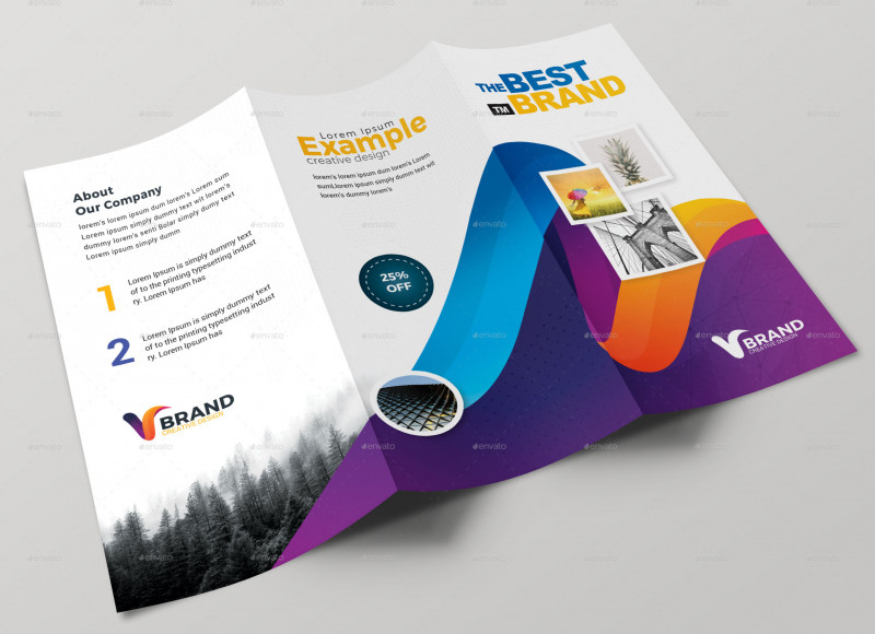Single Page Brochure Templates Psd Best 76 Premium Free Business Brochure Templates Psd To Download