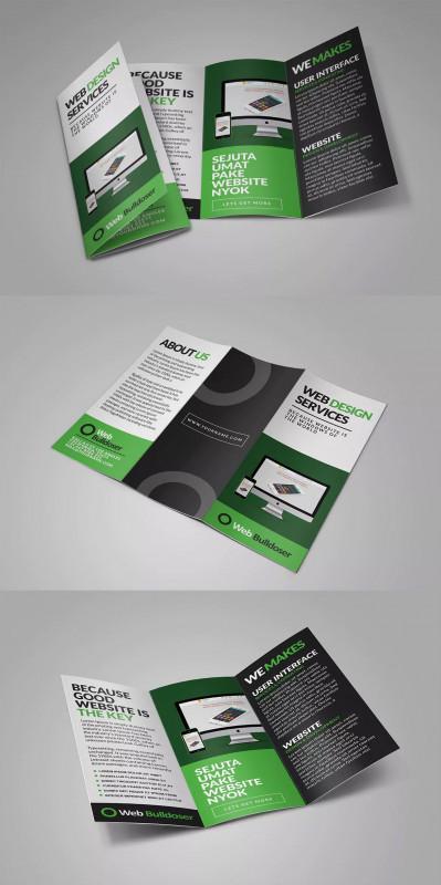 Single Page Brochure Templates Psd Best Web Design Trifold Brochure Templates Psd Brochure Design