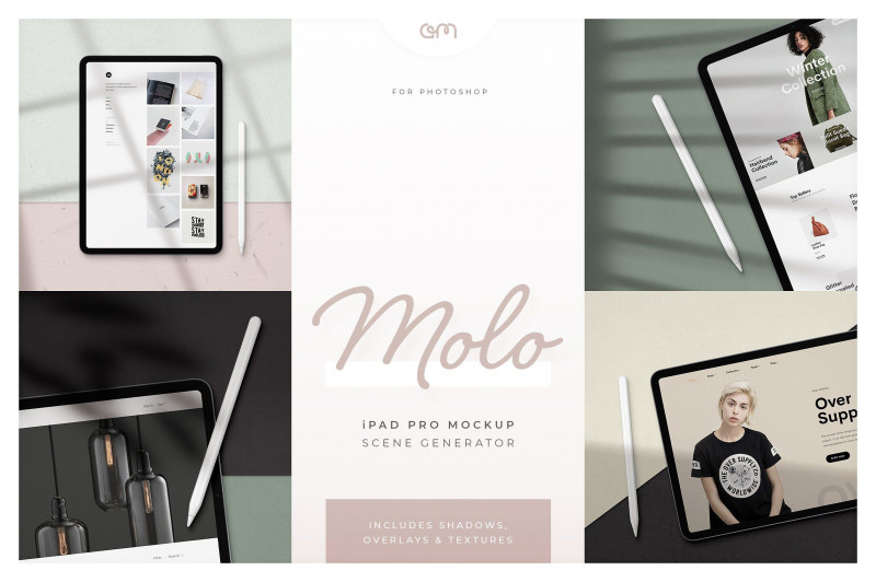 Social Media Brochure Template Awesome Molo Ipad Pro Scene Creator Mediaportfoliostandsocial Figure