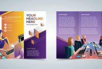 Three Panel Brochure Template Awesome Trifold Business Brochure Template Download Free Vector Art Stock