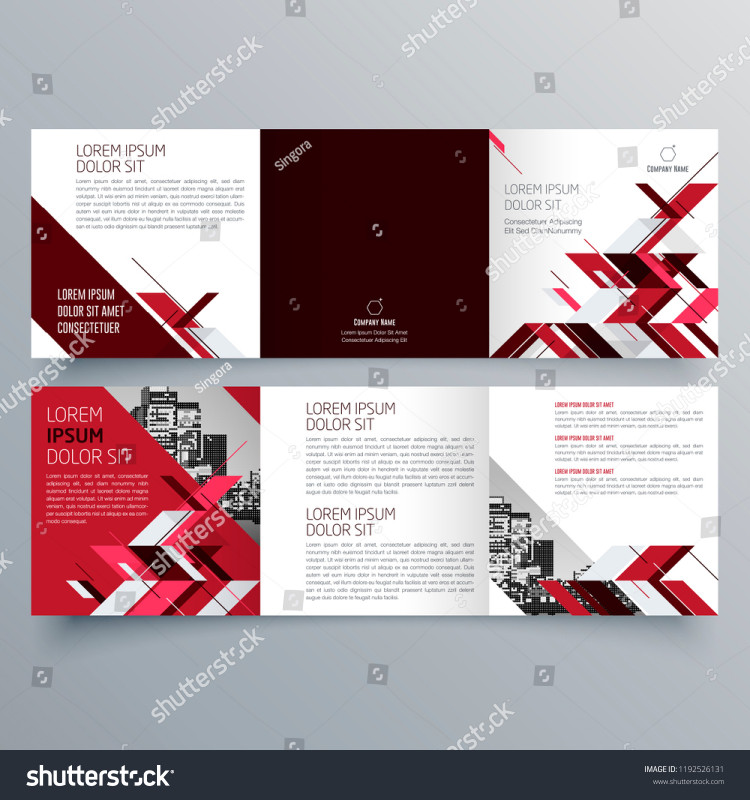 Three Panel Brochure Template Best Brochure Design Brochure Template Creative Trifold Stock Vector