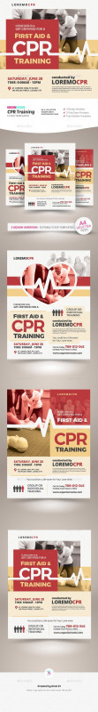 Training Brochure Template New Cpr Training Flyer Templates Photoshop Psd Renewal First Aid