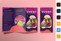 Tri Fold Brochure Ai Template Awesome Event Management Brochure Trifold Brochure Templates Creative Market