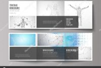 Tri Fold Brochure Ai Template Best Minimal Vector Illustration Of Editable Layout Modern Creative
