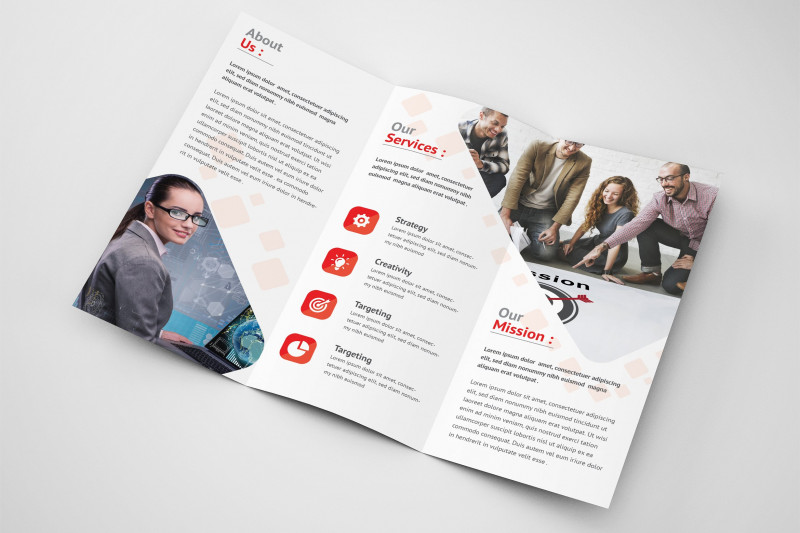 Tri Fold Brochure Ai Template New White And Blue Business Agency Trifold Brochure Makiplace