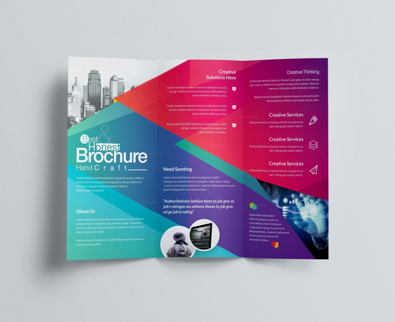Tri Fold Brochure Template Indesign Free Download New Excellent Professional Corporate Tri Fold Brochure Template 001213