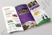 Tri Fold School Brochure Template New School Tri Fold Brochure Template Eymockup