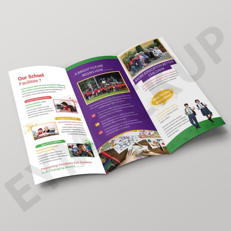 Tri Fold School Brochure Template New School Tri Fold Brochure Template Eymockup