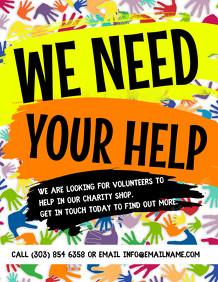 Volunteer Brochure Template Awesome 120 Volunteer Customizable Design Templates Postermywall