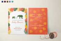 Zoo Brochure Template Awesome Zoo Baby Shower Invitation Design Template In Psd Word Publisher