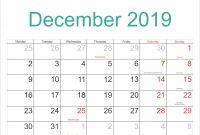 Blank Activity Calendar Template New Free Blank December 2019 Calendar Printable Templates