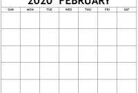 Blank Activity Calendar Template Unique Blank February 2020 Calendar Manage Work Activities 12