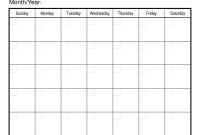 Blank Activity Calendar Template Unique Sample Calendars to Print Blank Monthly Calendar Template