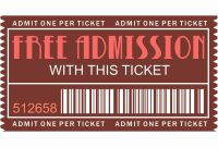 Blank Admission Ticket Template New Free Printable Movie Tickets Template Luxury Free Printables