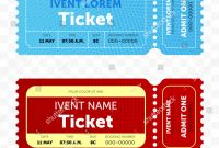 Blank Admission Ticket Template New Ticket Template Modern Trendy Retro Creative Stock Vector
