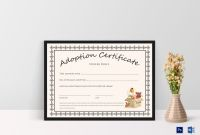 Blank Adoption Certificate Template New Doll Adoption Certificate Template