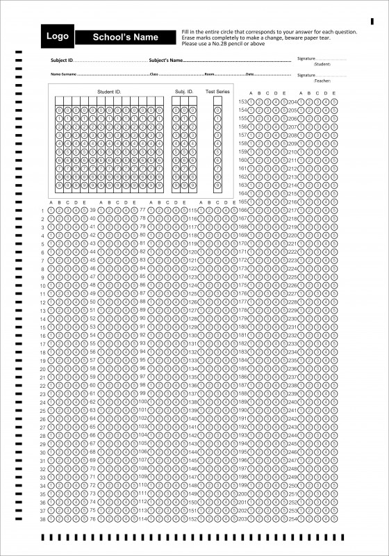Blank Answer Sheet Template 1 100 Awesome Ezy Omr High Speed And Accuracy Answer Sheet Reading