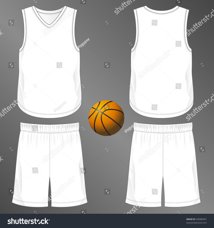 Blank Basketball Uniform Template Awesome Sports Series Realistic Team Basketball Uniform