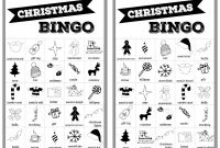 Blank Bingo Template Pdf New Christmas Bingo Cards