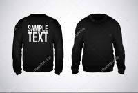 Blank Black Hoodie Template New Black Men Sweatshirt Template Sample Text Front Back View
