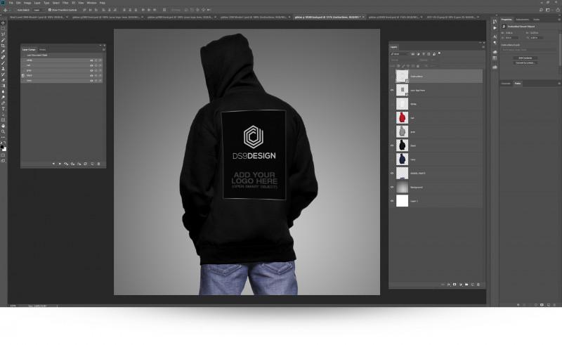 Blank Black Hoodie Template Unique Gildan G18500 Hoodie Mockup Template On Behance