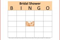 Blank Bridal Shower Bingo Template New New Bingo Card Template Leave Latter