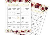 Blank Bridal Shower Bingo Template Unique Amazon Com Invitationhouse Rustic Burgundy Flower Bridal