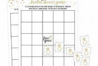 Blank Bridal Shower Bingo Template Unique Hadley Designs 25 Gold Vintage Bingo Game Cards for Bridal