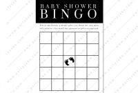 Blank Bridal Shower Bingo Template Unique Minimal Baby Shower Bingo