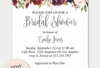 Blank Bridal Shower Invitations Templates Awesome 007 Invitations Free Wedding Shower Invitation Templates