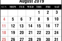 Blank Calander Template Awesome Free August 2019 Printable Calendar Template In Pdf Excel