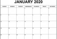 Blank Calander Template Unique Create Your January 2020 Calendar Printable Editable Blank