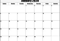 Blank Calander Template Unique Free Blank January 2020 Calendar Printable Pdf Word Excel