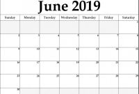 Blank Calendar Template for Kids New Lunar Calendar for June 2019 Printable Holidays Word Template