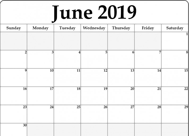 Blank Calendar Template For Kids New Lunar Calendar For June 2019 Printable Holidays Word Template