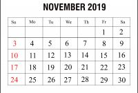 Blank Calendar Template for Kids Unique Blank Calendar November 2019 Printable Excel Landscape Template