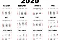 Blank Calender Template Unique 2020 Printable Calendar Download Free Blank Templates