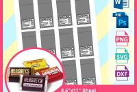 Blank Candy Bar Wrapper Template for Word Awesome Hershey Candy Bar Wrapper Template Microsoft Word Doc Psd Png and Svg Dxf formats 8 5×11 Sheet Printable 569
