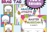Blank Candyland Template Unique Awards and Brag Tags Candy themed Classroom Classroom