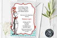 Blank Cat In the Hat Template New Dr Suess Cat In Hat Invitation Baby Shower Printable Editable Digital Pdf File Instant Download Corjl Bsi242