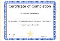 Blank Certificate Of Achievement Template Awesome 011 Free Blank Certificate Of Completion Template Striking