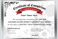 Blank Certificate Of Achievement Template Awesome 012 Free Blank Certificate Of Completion Template Templates