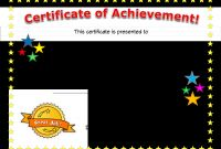 Blank Certificate Of Achievement Template Awesome Certificate Of Achievement Template Word Free Clipart Images