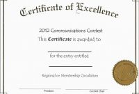 Blank Certificate Of Achievement Template New 010 Template Ideas Free Printable Editable Certificates