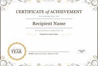 Blank Certificate Of Achievement Template New 50 Free Creative Blank Certificate Templates In Psd