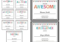 Blank Certificate Of Achievement Template Unique Editable Pdf Kids Children Teacher Classroom Certificate