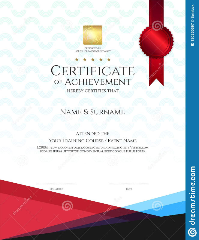 Blank Certificate Of Achievement Template Unique Modern Certificate Template With Elegant Border Frame