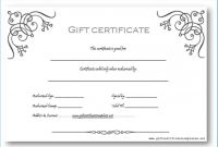Blank Certificate Templates Free Download Awesome Gift Certificate Template Word Free Download 8098