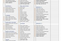 Blank Checklist Template Pdf Awesome 40 Professional House Cleaning Checklist Template