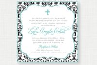Blank Christening Invitation Templates Unique 9 Baptism Invitations Template Printable Baptism